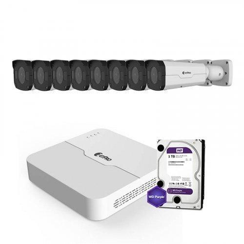 IP комплект видеонаблюдения ZetPro IP-2M-8OUT-Pro