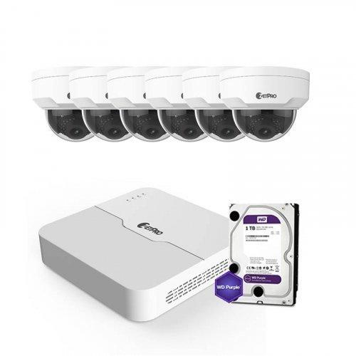 IP комплект видеонаблюдения ZetPro IP-2M-6DOME-Pro