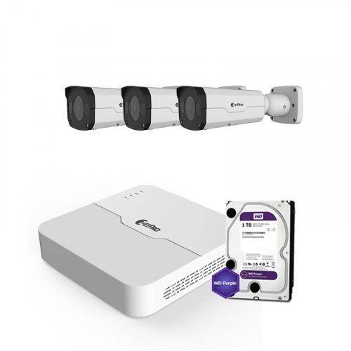 IP комплект видеонаблюдения ZetPro IP-4M-3OUT-Pro