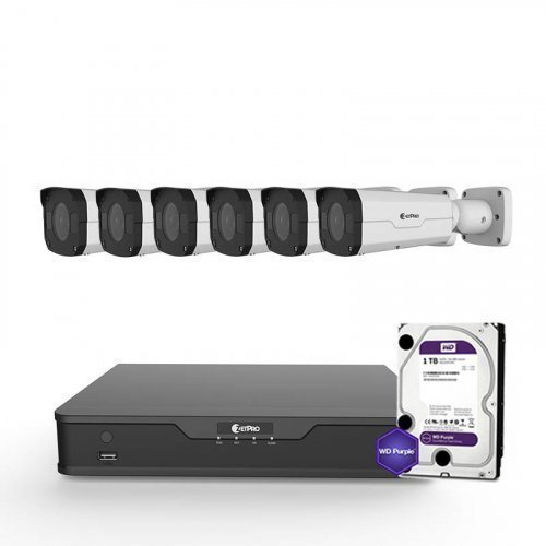 IP комплект видеонаблюдения ZetPro IP-4M-6OUT-Pro