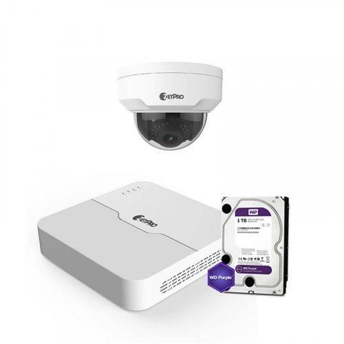 IP комплект видеонаблюдения ZetPro IP-4M-1DOME-Pro