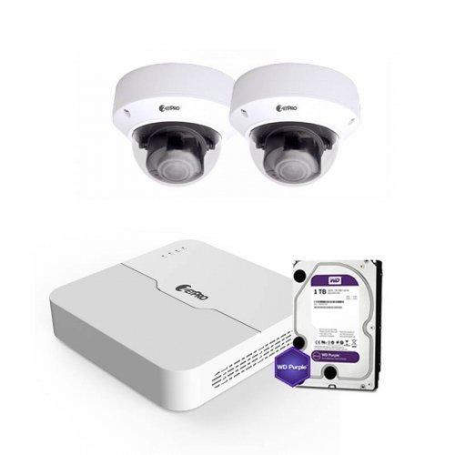 IP комплект видеонаблюдения ZetPro IP-8M-2DOME-Pro