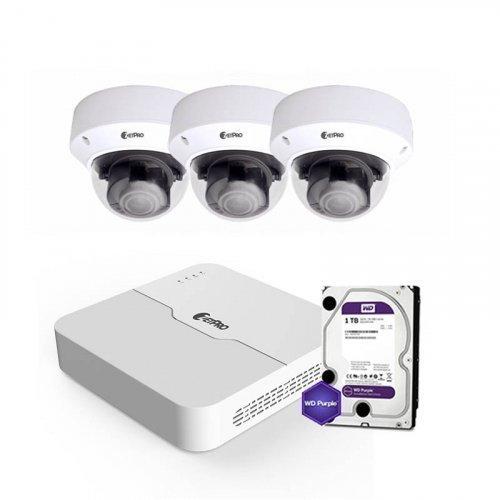 IP комплект видеонаблюдения ZetPro IP-8M-3DOME-Pro