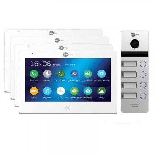 Комплект домофона  NeoLight Mezzo HD и NeoLight MEGA/4 HD Silver