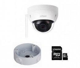 IP комплект видеонаблюдения для парадного с камерой Dahua HDBW1435EP-W + монтаж