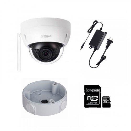 IP комплект видеонаблюдения для парадного с камерой Dahua HDBW1120E-W