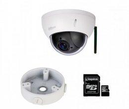 IP комплект видеонаблюдения для парадного с камерой DH-SD22204UE-GN-W + монтаж