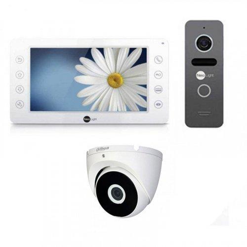 Комплект домофона  NeoLight Kappa+ и NeoLight Solo + камера Dahua
