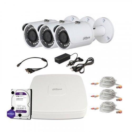 HDCVI комплект видеонаблюдения Dahua CVI-2M-3OUT-Lite-M-Full