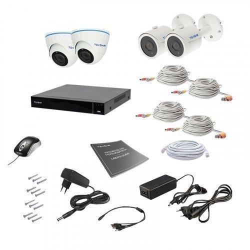 AHD комплект видеонаблюдения Tecsar AHD 4MIX 8MEGA