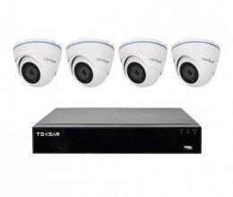 AHD комплект видеонаблюдения Tecsar на 4 камеры 2мп и AHD видеорегистратора B4CH4AB-HD