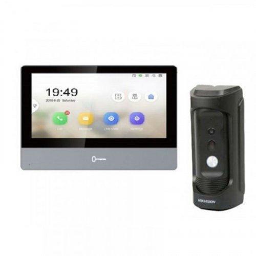 Комплект домофона Hikvision DS-KH8350-WTE1 и Hikvision DS-KB8112-IM