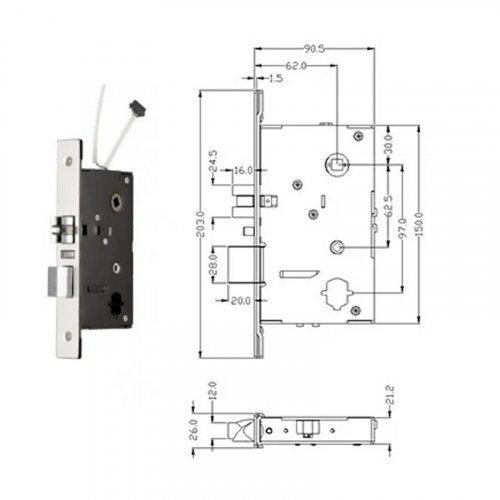 Автономный RFID замок SEVEN Lock SL-7735B