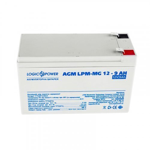 LogicPower AGM LPM-MG 12 - 9 AH