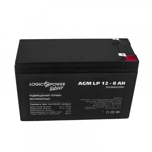LogicPower AGM LP 12 - 8,0 AH SILVER