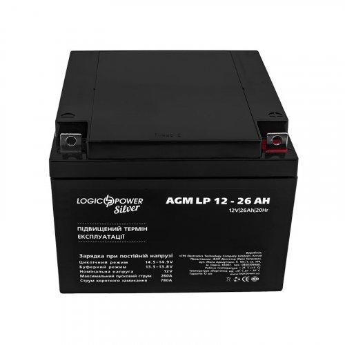 LogicPower AGM LP 12 - 26 AH SILVER
