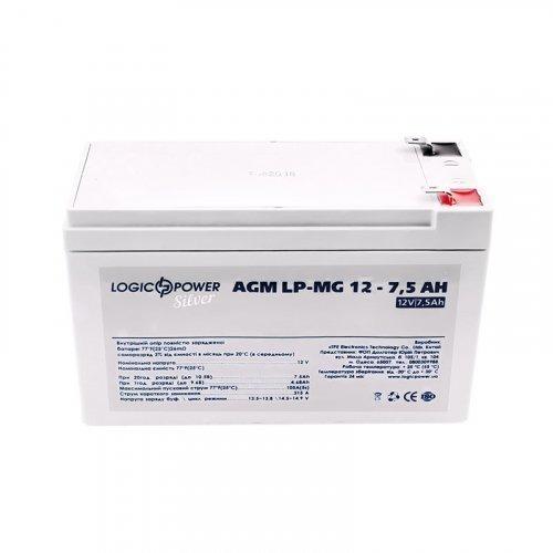 LogicPower AGM LP-MG 12 - 7,5 AH SILVER