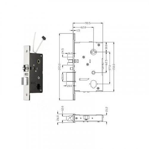 Автономный RFID замок SEVEN Lock SL-7731S Black
