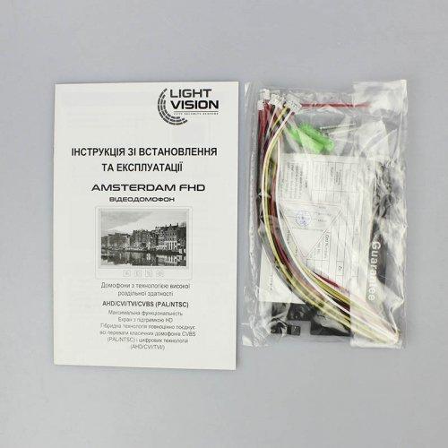 Видеодомофон LightVision AMSTERDAM FHD White