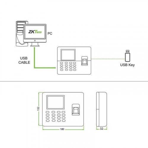 Биометрический терминал учета рабочего времени ZKTeco LX50