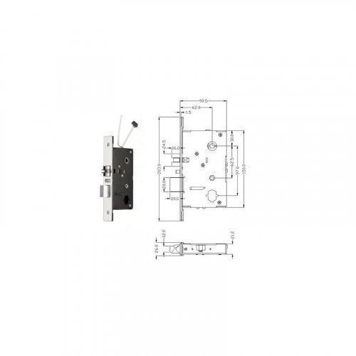 Автономный RFID замок SEVEN LOCK SL-7731 Bronze