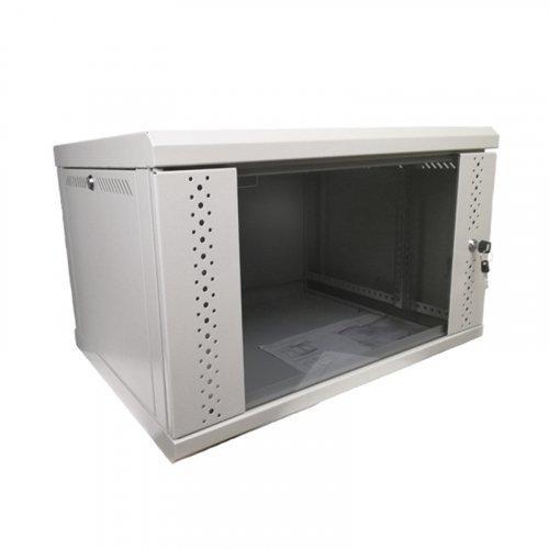 Серверный шкаф 6U, EServer 600х350х370 (Ш*Г*В), стекло, серый