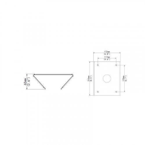 Кронштейн для крепления камеры на столб Uniview TR-UP08-B-IN (алюминий)