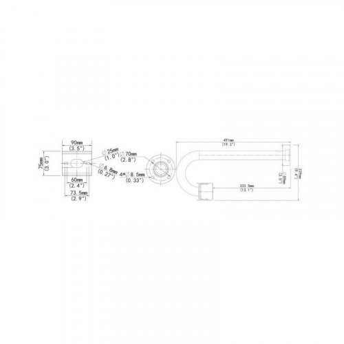 Кронштейн для корпусной камеры Uniview TR-CM06-IN