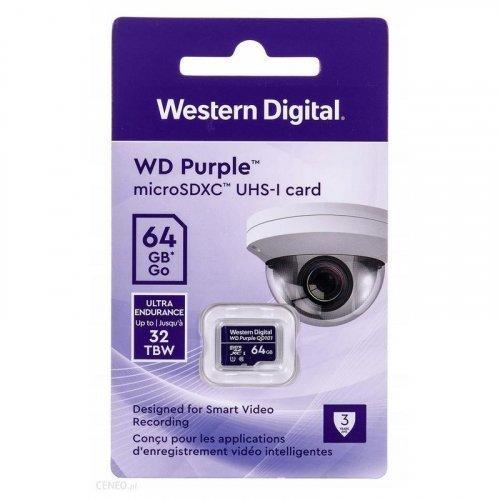Карта памяти Western Digital MEMORY MICRO SDXC QD101 64GB UHS-I WDD064G1P0C WDC специализированная для видеонаблюдения
