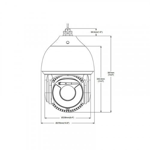 IP видеокамера TVT TD-8843IM (PE / 37M / VL50) SPEED DOME