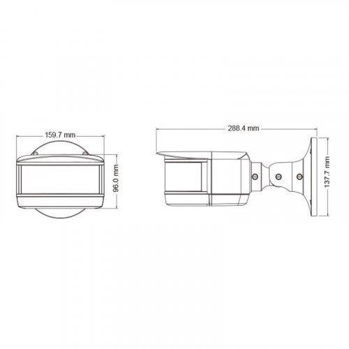 IP видеокамера панорамная TVT TD-6424M3- (D / PE / AR2)