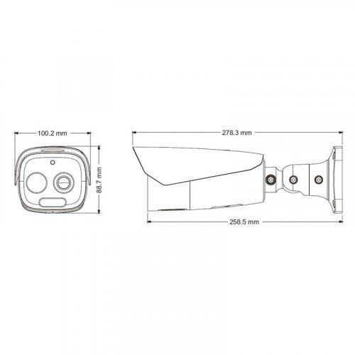 TD-5433E (FT / PE / VT1) IP-видеокамера тепловизионная