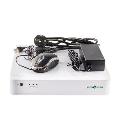 NVR комплект видеонаблюдения GreenVision GV-IP-K-S31/04 1080P