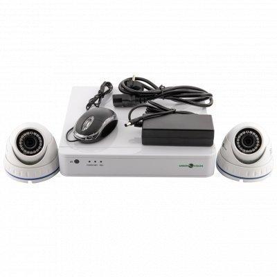 NVR комплект видеонаблюдения GreenVision GV-IP-K-S33/02 1080P