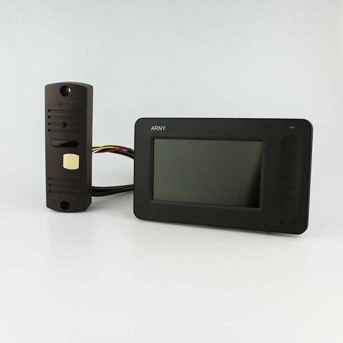 Комплект домофона  ARNY AVD-4005 Черный \ Коричневый