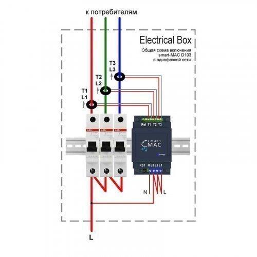 Энергомонитор smart-MAC D103-600A