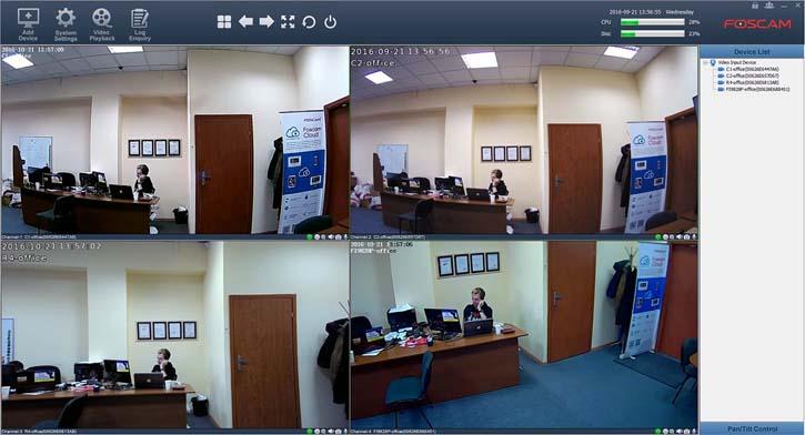 Программный видеорегистратор для IP камеры Foscam C1 Lite