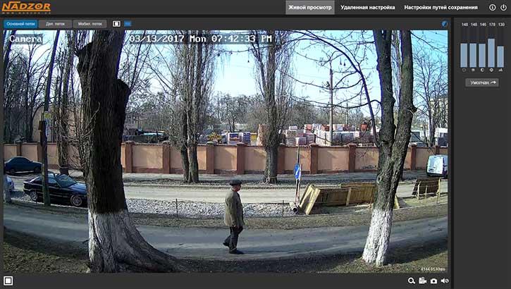 WEB веб интерфейс IP камеры NADZOR RS-CH292H3C-S-36P