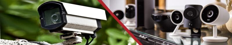 уличные и внутренние камеры видеонаблюдения, фото