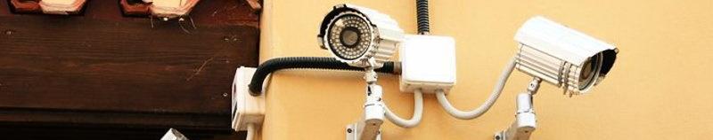 Уличные камеры видеонаблюдения.